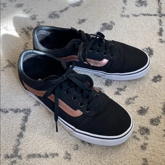 Vans Shoes | Classic Black And Rose